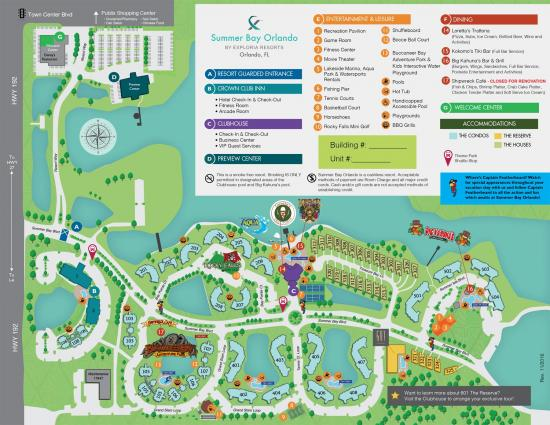 Summer Bay Resort Orlando Map Summer Bay Resorts Crown Club   Orlando, Fl, USA   Florida